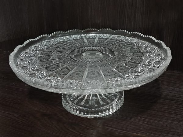 C206 Crystal cake stand spice 11x30cm
