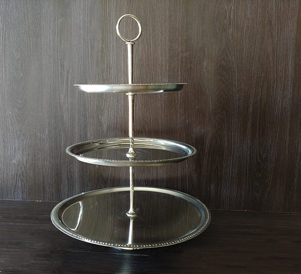 Silver – Cake Stand 3 Tier
