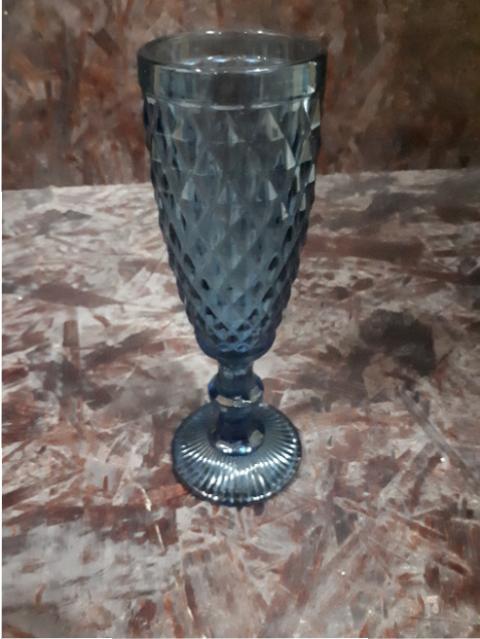 BLUE CHAMPAGNE GLASS